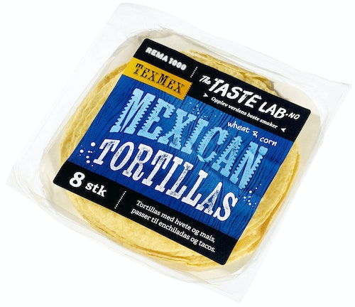 REMA 1000 Tortillas Mais Taste Lab, 8 stk, 320 g