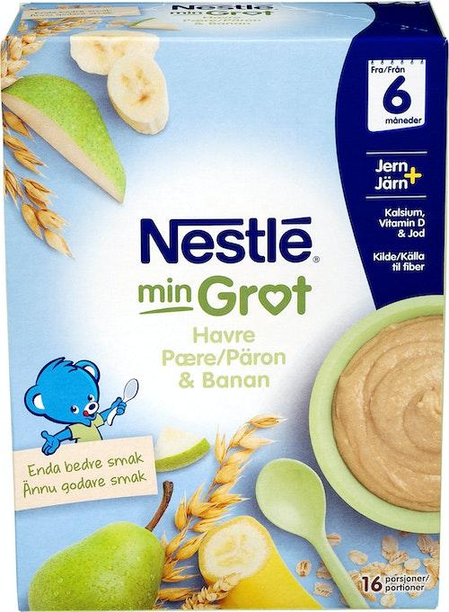 Nestlé Min Grøt Havre Pære Banan Fra 6 mnd, 480 g