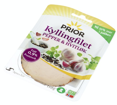 Prior Kyllingfilet Med Pepper & Hvitløk 110 g