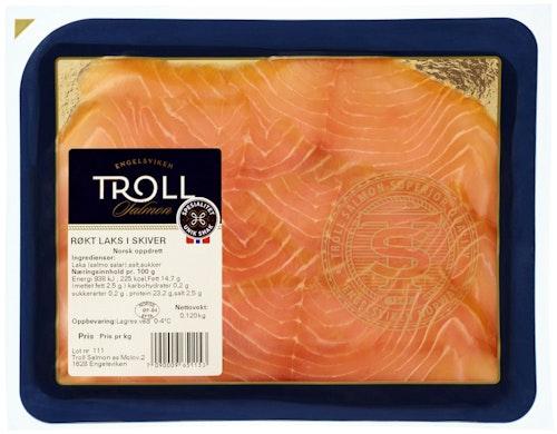 Troll Salmon Røkt Laks i Skiver 120 g