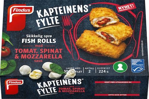 Findus Kapteinens Fylte med Tomat,Spinat & Mozzarella 224 g