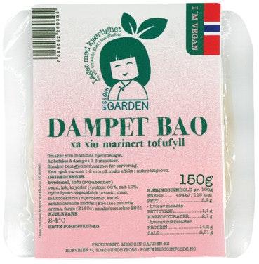 Vegansk Dampet Bao Bolle Fylt Med Tofu Norskprodusert, 150 g