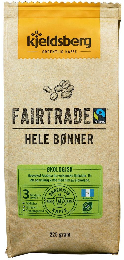 Kjeldsberg Kaffebrenneri Fairtrade Kaffe Hele Bønner, 225 g