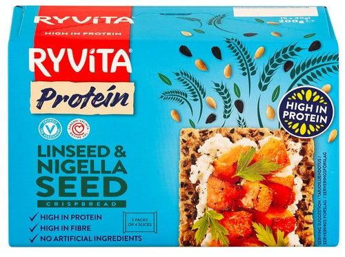 Ryvita Ryvita Protein Linfrø & Karve Knekkebrød, 200 g