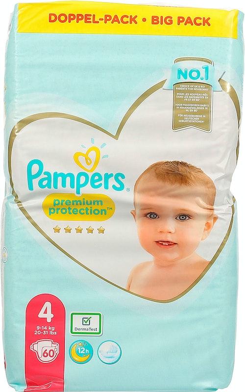 Pampers Bleie Premium Protection S4 9-14kg, 60 stk