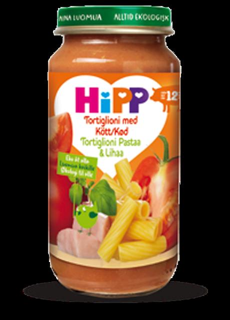 Hipp Tortiglioni med Kjøtt Fra 12 mnd, 250 g