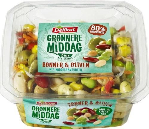 Delikat Grønnere Middag Med Bønner Og Oliven, 300 g