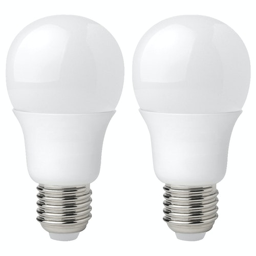 Clas Ohlson LED-pære E27 6w, 2 stk