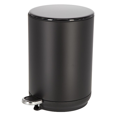 Pedalbøtte softclose 5L svart, 1 stk
