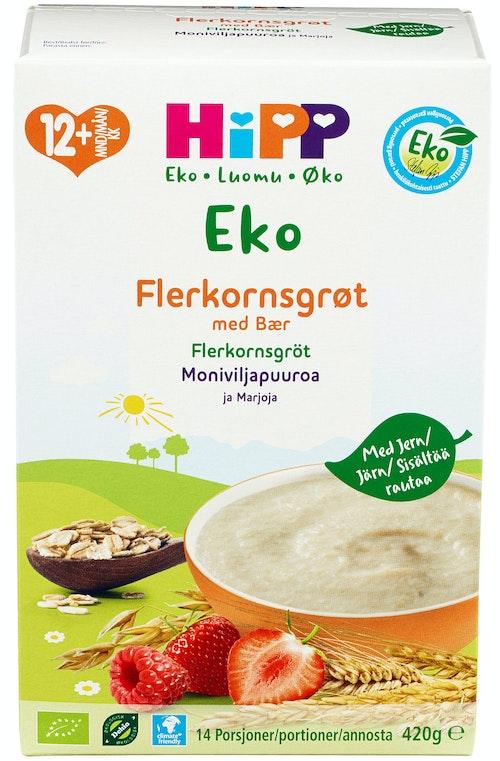 Hipp Flerkornsgrøt med Bær Fra 12 mnd, 420 g