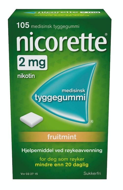 Nicorette Nicorette Tyggegummi Fruitmint 2mg, 105 stk