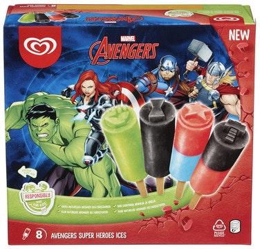 Heartbrand Disney Avengers Hero Ispinne 8 stk, 480 ml