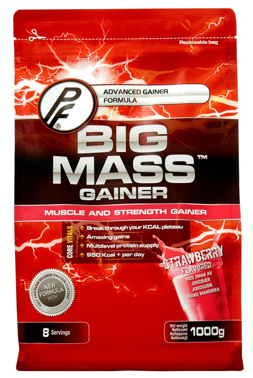 Proteinfabrikken Big Mass Jordbær 1 kg
