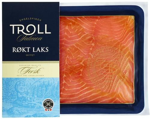 Troll Salmon Røkt Laks i Skiver 250 g