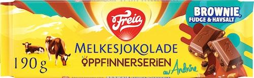 Freia Melkesjokolade Brownie Fudge Havsalt 190 g