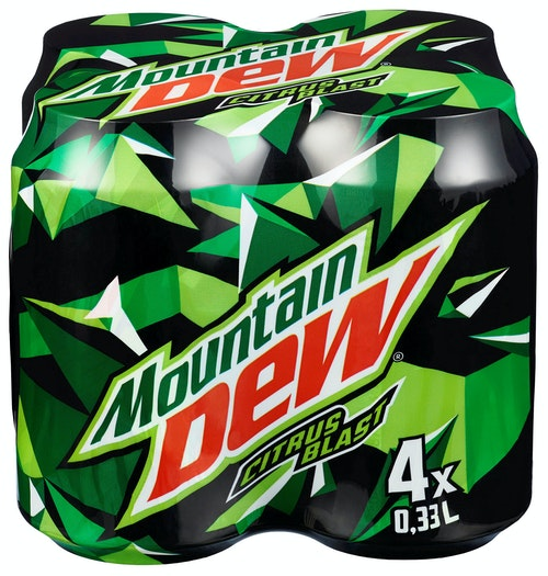 Mountain Dew Mountain Dew Sugar Reduction 4 x 0,33l, 1,32 l