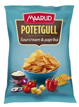 Maarud Potetgull Sourcream & Paprika 200 g