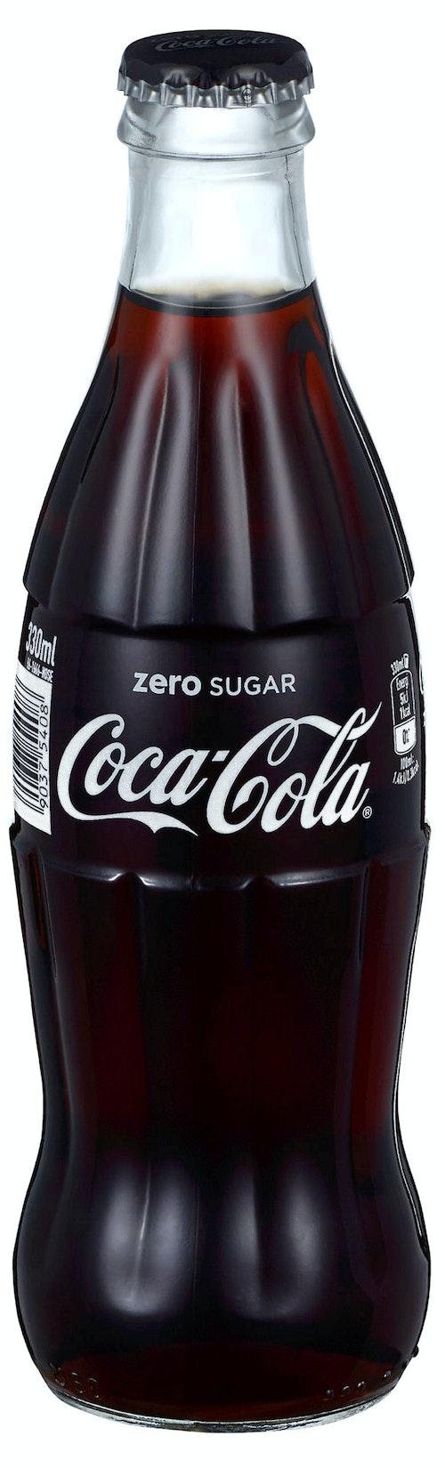 Coca-Cola Coca-Cola Uten Sukker Glassflaske, 0,33 l
