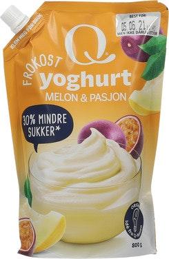 Q-meieriene Q Frokostyoghurt Melon & Pasjonsfrukt Pose, 800 g