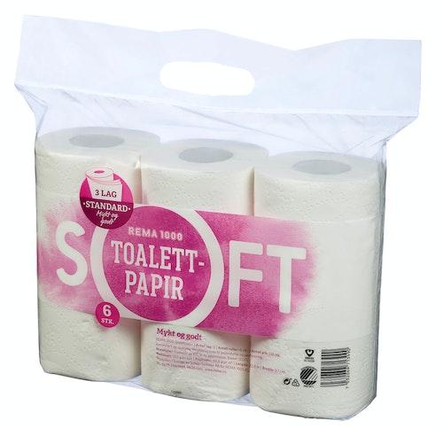 Soft Toalettpapir 3 Lag 6 stk