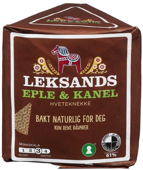 Leksands Knekkebrød Eple & Kanel, 200 g