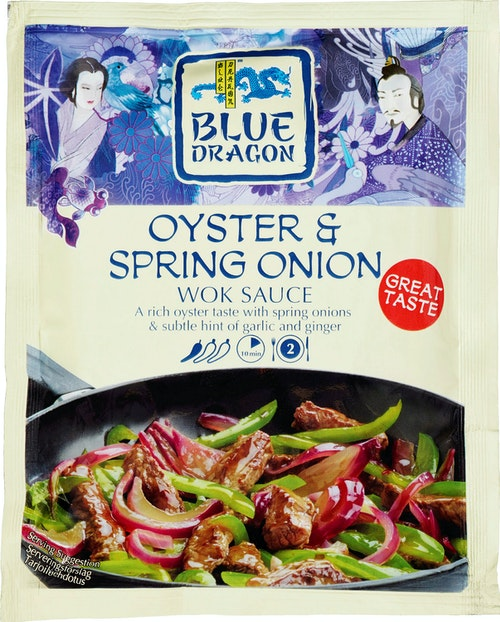 Blue Dragon Oyster Spring Onion Woksaus, 120 g