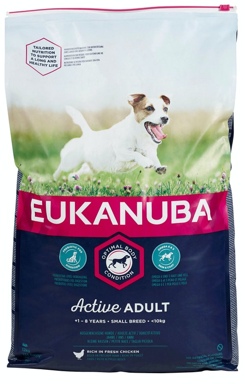 Eukanuba Active Adult Small Breed Rich In Fresh Chicken, 12 kg