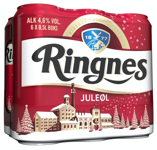 Ringnes Ringnes Juleøl 6 x 0,5 ltr, 3 l