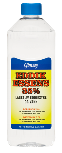 Grimsøy Eddikessens 35% Klar, 500 ml