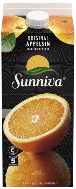 Sunniva Original Appelsinjuice Med Fruktkjøtt, 1,75 l