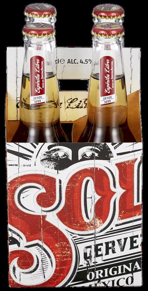 Sol Flaske 4 x 0,33l, 1,32 l