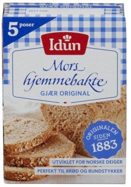 Idun Gjær Original Tørr 5 poser, 0,07 kg