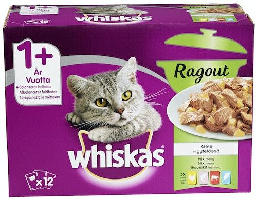 Whiskas Whiskas Ragout Mixed Menu 12 stk, 1,02 kg