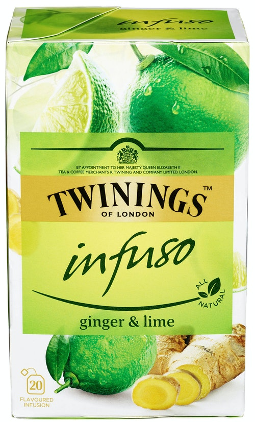 Twinings Ginger & Lime-te Infuso, 20 stk