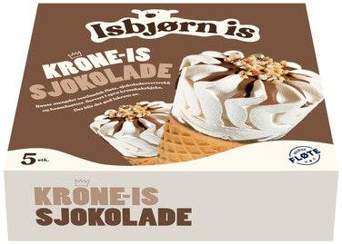 Isbjørn Is Krone-Is Sjokolade 5 stk, 645 ml