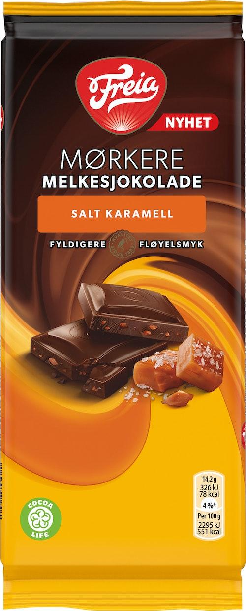 Freia Mørkere Melkesjokolade Salt Karamell, 85 g