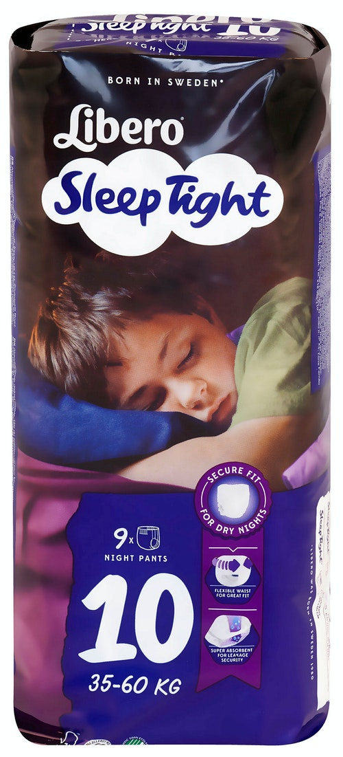 Libero Libero Sleep Tight S 10 35-60 kg, 9 stk