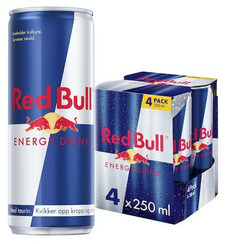 Red Bull Red Bull Energidrikk 4x250 ml, 1 l