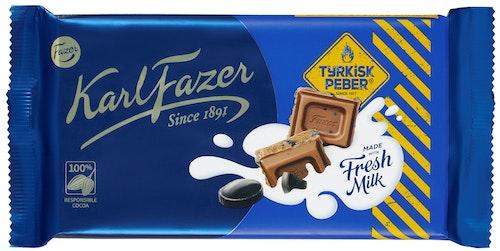 Fazer Tyrkisk Peber Sjokoladeplate 145 g