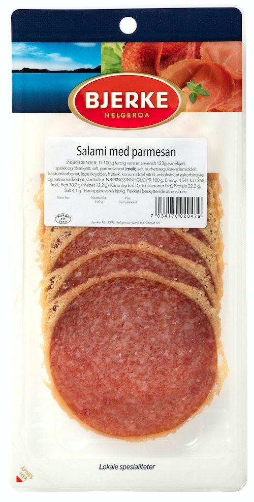 Bjerke Spekemat SalamiMed Parmesan 100 g