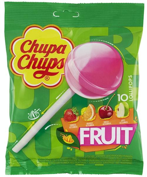 Chupa Chups Chupa Chups Lollipop Fruktsmak 10 stk, 120 g