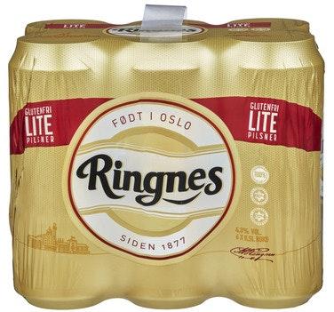 Ringnes Ringnes Lite Glutenfri, 6 x 0,5l, 3 l