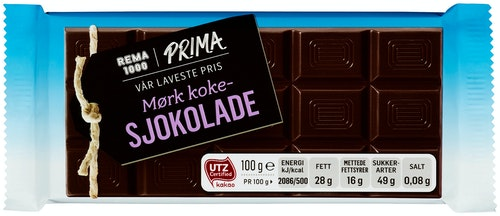 REMA 1000 Kokesjokolade Mørk 100 g