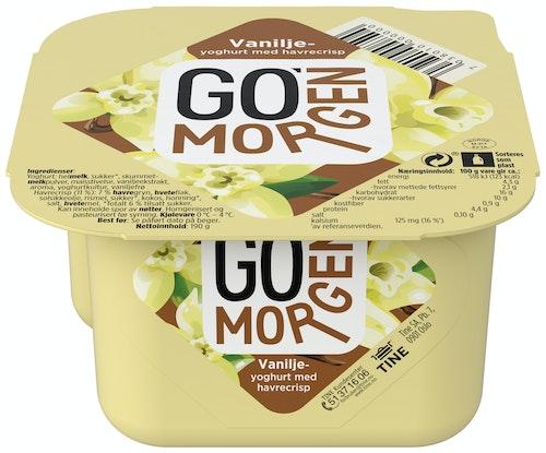 Tine Go' Morgen Vaniljeyoghurt med Havrecrisp, 195 g