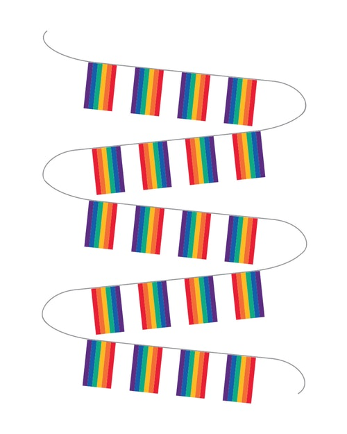 Oslo Pride Buntflagg Regnbue 1 stk