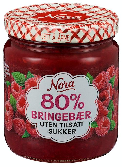 Nora Bringebærsyltetøy Uten Tilsatt Sukker 275 g