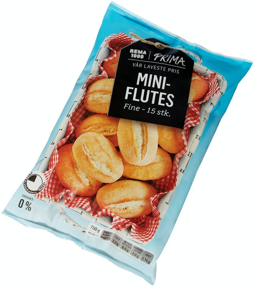 Prima Miniflutes Fine 15 stk, 750 g