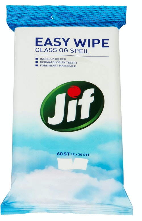 Jif Easy Wipe Glass og speil, 60 stk
