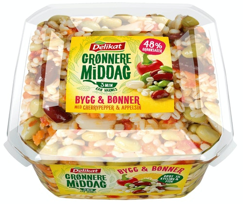 Delikat Grønnere Middag Med Bygg Og Bønner, 300 g