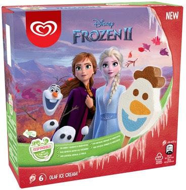 Heartbrand Disney Olaf Ispinne 6 stk, 360 ml